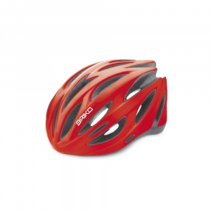 BRIKO Cycling Helmet Unisex In-Moulding Technology Shire Shiny Red
