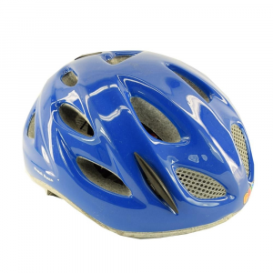 BRIKO Cycling Helmet Junior Racing Bike Roll Fit Pony Shiny Blue