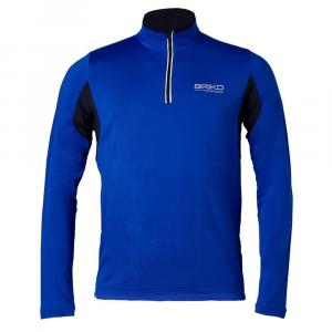 BRIKO Jersey Long-Sleeved Man Nordic Walking Training Lite Black Blue