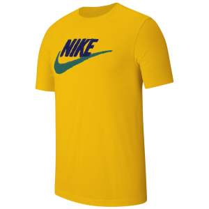 T SHIRT NIKE YELLOW LOGO BLUE/GREEN AR4993-728