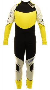 BRIKO VINTAGE Overalls Man Cross-Country Skiing Katana Racing Xc Black Yellow