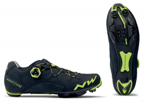 NORTHWAVE Cross Country Men's MTB shoes GHOST XCM black / fluo yellow