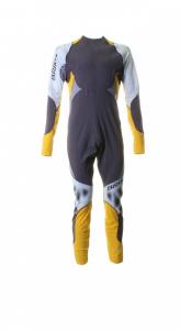 BRIKO VINTAGE Overalls Man Cross-Country Skiing Katana Racing Yellow Gray