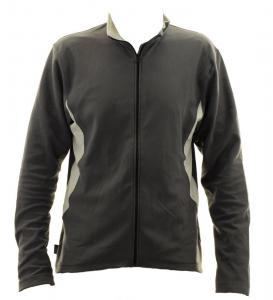 BRIKO Sweater Nording Walking Man Zip Kola X-C Gray Microfleece