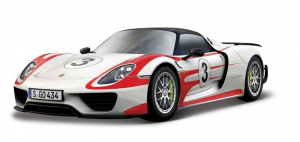 BBURAGO Porsche 918 Racing 1/24 miniature model collectible car kit toy 441
