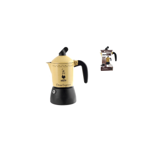 BIALETTI Aluminium New Barley Italian Coffee Maker Yellow Cups 2 Moka Made Italy