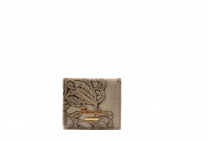CUOIERIA FIORENTINA Womens coin purse printed calf leather Taupe Made in Italy