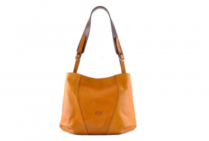 CUOIERIA FIORENTINA bucket leather bag ladies leather Yellow  Made in Italy