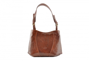 CUOIERIA FIORENTINA bucket leather woman purse Leather Brown  Made in Italy