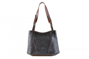 CUOIERIA FIORENTINA bucket leather bag ladies leather Black  Made in Italy