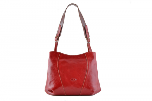 CUOIERIA FIORENTINA bucket leather bag ladies leather Red  Italian style Italy