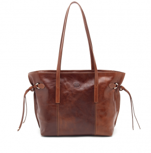 CUOIERIA FIORENTINA Leather leather bag Brown Shopping hand product Handmade
