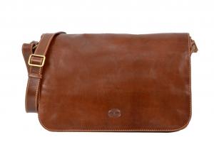CUOIERIA FIORENTINA leather bag ladies leather shoulder strap Brown  Handmade