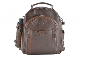 CUOIERIA FIORENTINA backpack with umbrella shaded Calf leather Dark brown