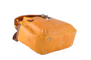 CUOIERIA FIORENTINA Leather Backpack Yellow / Bicolor B.5091.C Made in Italy