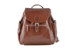 CUOIERIA FIORENTINA Leather Backpack Brown  B.5091.C Italian style Italy