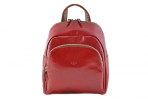 CUOIERIA FIORENTINA Leather Backpack Red / Bicolor B.5103.C Made in Italy