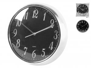 H&H Clock Round Black Cromanico Wall 35 Clock And Alarm Clock Italian Design