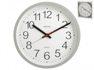 H&H Gray Round Wall Clock Cm30 Clock And Alarm Clock Italian Design Italy