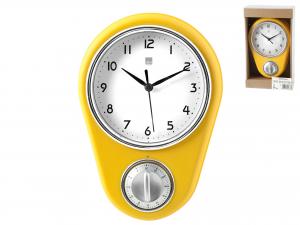 H&H Wall Clock Vanilla 16Xh22 Clock And Alarm Clock Italian Design Exclusive Brand