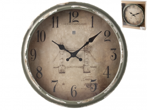 H&H Vintage Wall Clock Cm34 Clock And Alarm Clock Italian Design Exclusive Brand