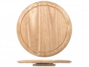 H&H Revolving Wooden Plate Cm35 Kitchen Accessories Italian Design Exclusive Brand