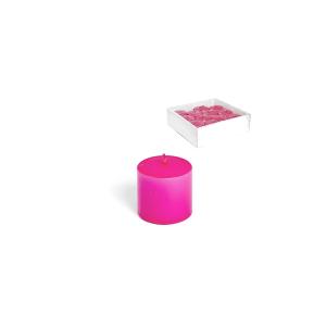 H&H 12 Pillar Candles Basic 50X50 Hot Pink Italian Design Exclusive Brand Italy