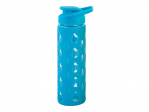 H&H Pack 3 Bottle borosilicate / Silicon Cap dAzur Plastic 0.55 Cl Italian Style
