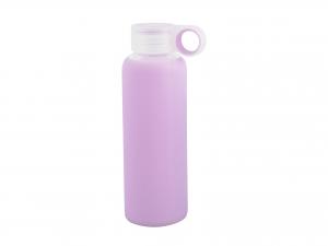 H&H Pack 3 Bottle borosilicate / Silicone Lilac Plastic Cap 0.36 Cl Italian Style