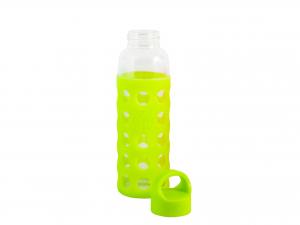 H&H Pack 3 Bottle borosilicate / Silicone Green Plastic Cap 0.36 Cl Italian Style