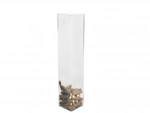 H&H Vase Clear Glass Framework Cm15Xh60 Italian Design Exclusive Brand Italy