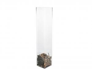 H&H Vase Clear Glass Framework Cm15Xh70 Italian Design Exclusive Brand Italy