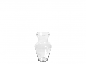 H&H Clear Glass Vase Uniflor H30 Furniture And Home Decorations Italian Design