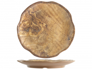 H&H Melamine Round Tray for Decor Wooden 30,5 cm Melamine online Italian Design