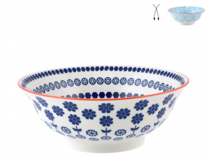 H&H Cup Porcelain Decoration Assorted Cm21  Italian Design Exclusive Brand