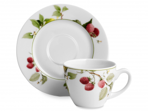 H&H Pack 6 Tea Cups With Plate Porcelain Nadia 0.2 Breakfast Italian Design