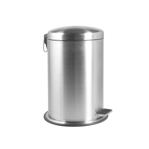 HOME Stainless Steel Trash Can With Pedal Satin12 Exclusive Italian Design Brand
