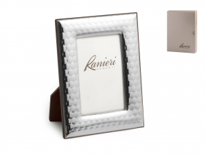 HOME Ranieri Silver Photo Frame 9X13 Cm Exclusive Brand Design Made in Italy