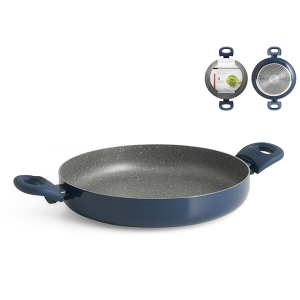 HOME PROFESSIONAL blue stone nonstick pan induction CM28 Pans preparation Italy