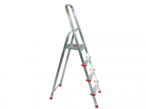 HOME Aluminum Ladder 3 Steps Exclusive Brand Design Made in Italy