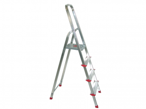 HOME Aluminum Ladder 4 Steps Exclusive Brand Design Made in Italy
