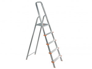 HOME Aluminum Ladder 5 Steps Exclusive Brand Design Made in Italy