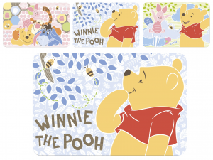 HOME Pack 12 Mats Polypropylene Disney Winnie Sweet Baby Top Italian Brand