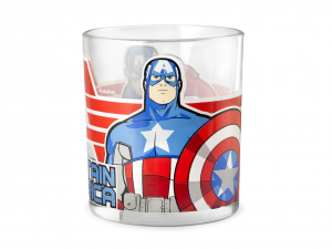 HOME 24 Glasses Water Marvel Avengers 25 Cl Exclusive Brand Design Made in Italy