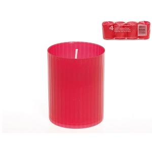 FEM Pack 24 x4 lumini votiv 46x62 rosso Exclusive Brand Design Made in Italy