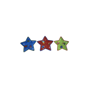 HOME Pack 3 Assorted Star Christmas Centerpiece 30 Table Decorations