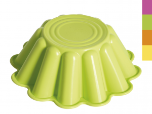 HOME Pack 4 Silicone Molds Pudding Colored Cm21 Pastry Baking Top Italian Brand