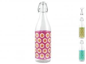 HOME 6 Bottles Glass Desy 1 Lt Exclusive Brand Design Made in Italy