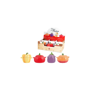 HOME Pack 6 Containers Ceramic Fruit/Assorted Vegetables Food Storage