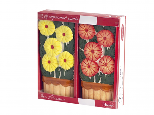 HOME Set 6 Packs 2 Flowers Ceramic Evaporators Exclusive Design Made in Italy